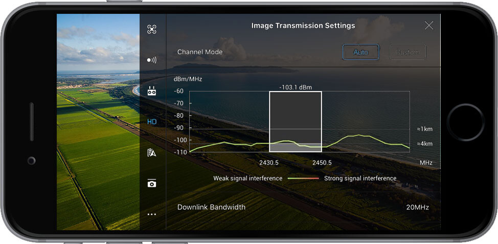 DJI Go 4 Manual Image Transmission Settings