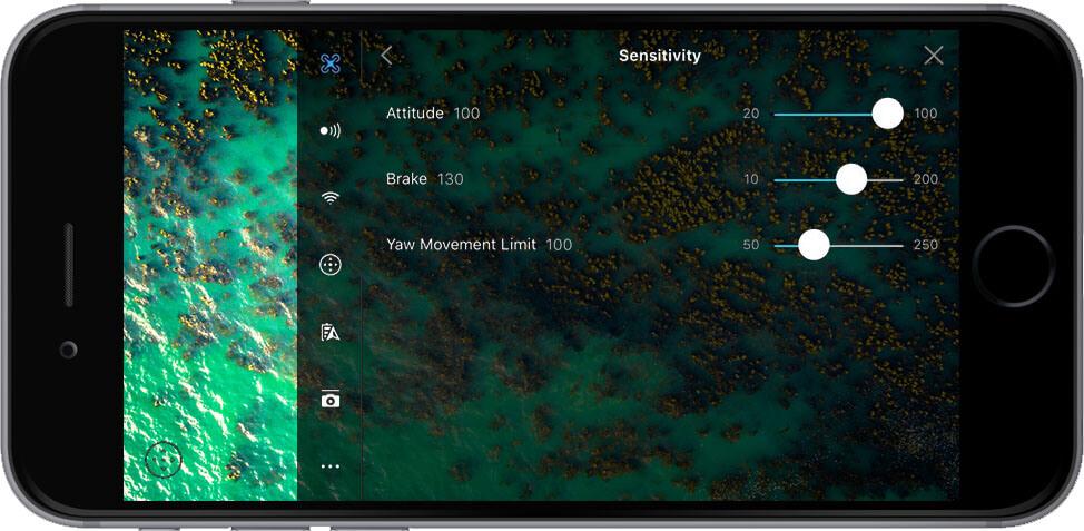 DJI Go 4 Manual Main Controller Settings Sensitivity