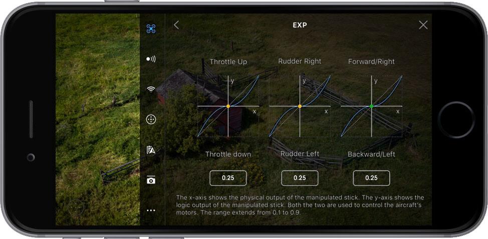 DJI Go 4 Manual Main Controller Settings EXP