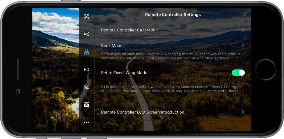 DJI Go 4 Manual Remote Controller Settings