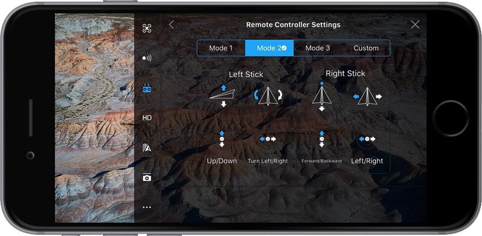 DJI Go 4 Manual Remote Controller Settings Stick Mode
