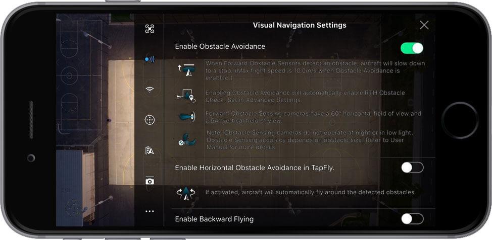 DJI Go 4 Manual Visual Navigation Settings