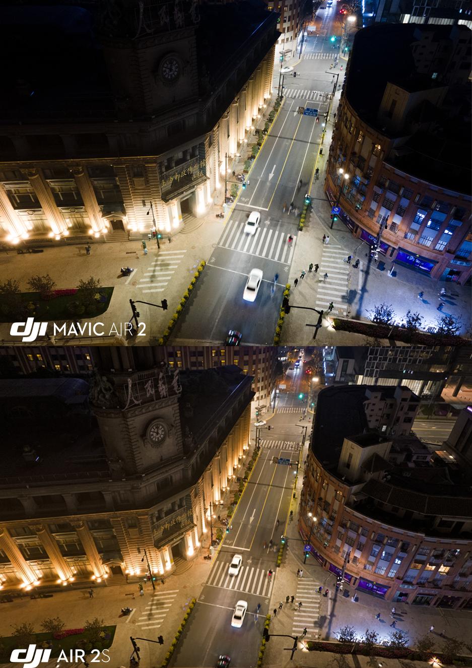 DJI Air 2SはDJI Mavic Air 2に比べ暗部をより鮮明に捉えることが可能です
